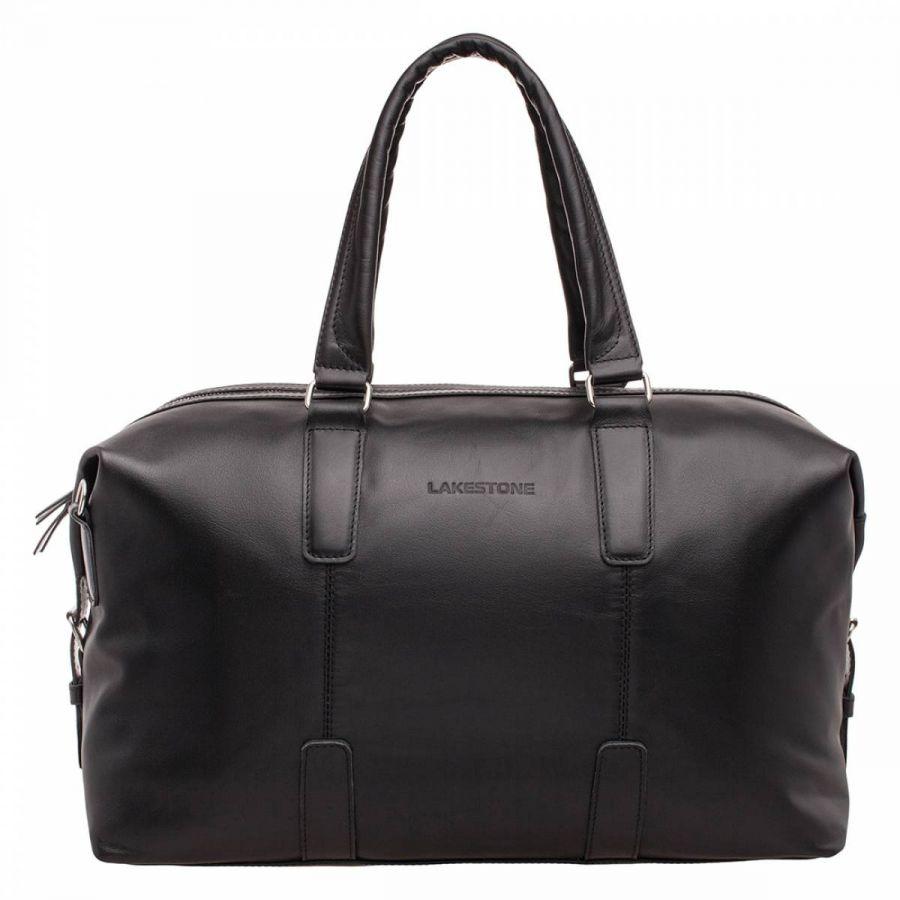 Кожаная дорожная сумка Lakestone Kennard Black