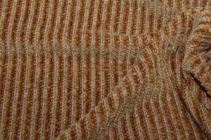 """Трикотаж велюр """"вязанка"""" VT-10241/C#5 коричневый"""