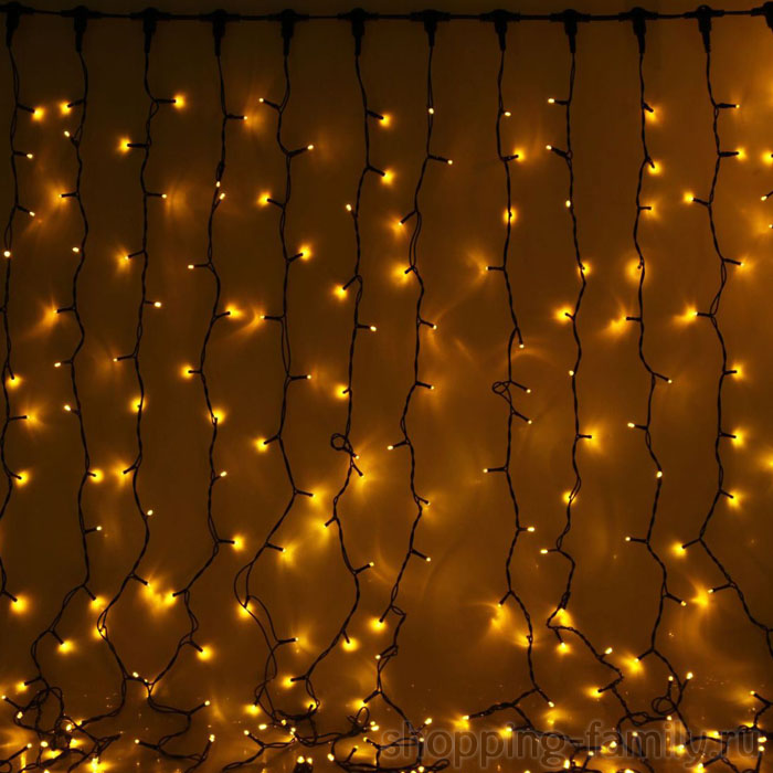 Светодиодная гирлянда Шторка 280 LED, 2,5*2,5 м. Цвет Желтый