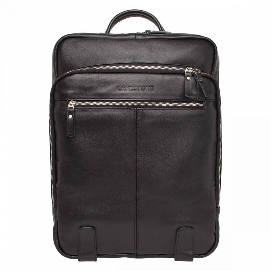 Мужской кожаный рюкзак Lakestone Salmons Black