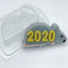 """Форма для мыла и шоколада """"2020 / На силуэте крысы"""""""