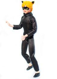 """Кукла Андриан 30 см. в образе Черного кота """"Леди Баг и Супер Кот"""""""