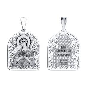 Иконка из серебра с лазерной обработкой 94100135 SOKOLOV
