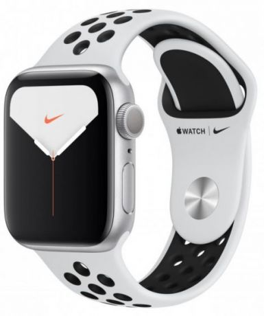 Apple Watch Nike Series 5 Silver Aluminum Case 44mm GPS Royal Platinum/Black with Nike Sport Band
