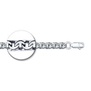 Браслет из серебра с алмазной гранью 965140454 SOKOLOV
