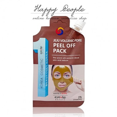 Маска-пленка очищающая EYENLIP POCKET VOLCANIC PORE PEEL OFF PACK 25гр