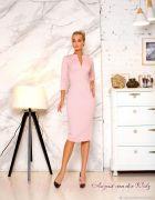Розовое платье футляр