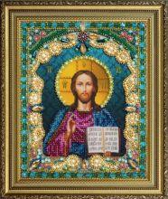 P-408 Картины Бисером. Икона Христа Спасителя