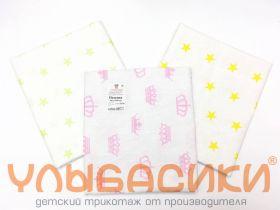 ММ Пелёнки бязевые 75х110 для девочки