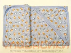 ММ Детское полотенце с капюшоном (трикотажное теплое) 100х100