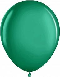 """Шар (12""""/ 30 см, зелёный, металлик, 100 шт"""