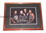 Автографы: Metallica. Д.Хэтфилд, Л.Ульрих, К.Хэмметт, Р.Трухильо