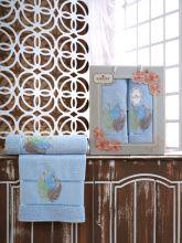 Комплект из 2-х махровых полотенец  Flowers 50*90+70*140 Арт.555.07