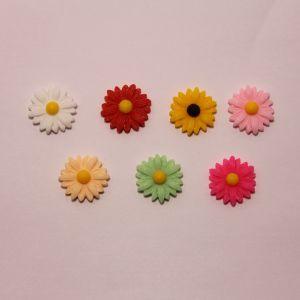 """Кабошон """"Цветок"""", пластик, 22 мм (1уп = 50шт), Арт. КБП0368"""
