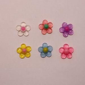 """Кабошон """"Цветок"""", пластик, 19 мм (1уп = 50шт), Арт. КБП0374"""