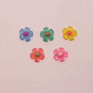 """Кабошон """"Цветок"""", пластик, 21 мм (1уп = 50шт), Арт. КБП0376"""