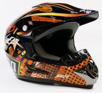 Детский шлем кроссовый Motax (Черно - Оранжевый)