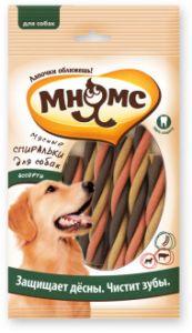 МНЯМС Мясные спиральки для собак ассорти, 6 шт.