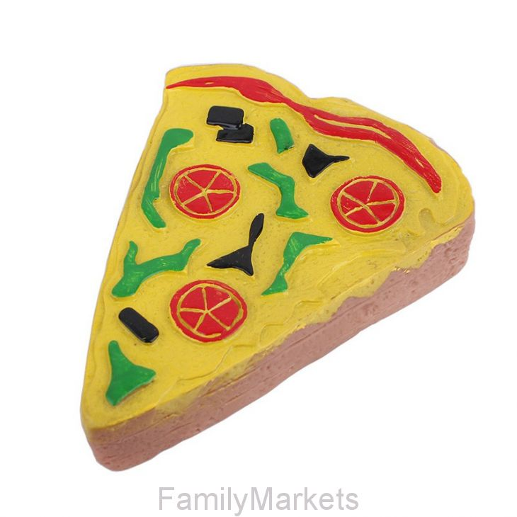 Виниловая игрушка-пищалка для собак Кусочек пиццы, 12 см
