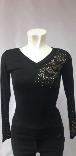 Блузка женские черные
