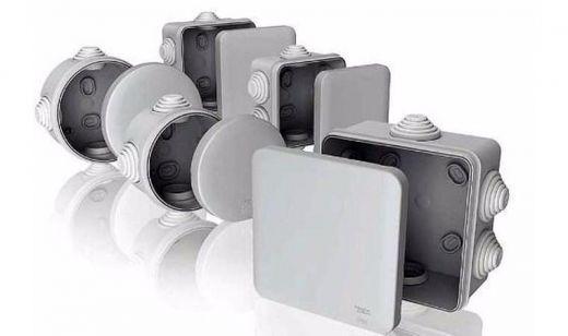 Электромонтажная коробка 120*80*50 IP54 серая для внешней установки Т-Пласт