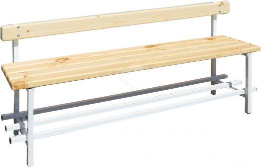 Скамья для раздевалок со спинкой 1,5 м