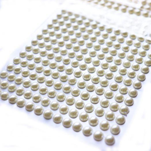Акриловые полубусины, цвет Молочный,  6 мм, ~500 шт/наб