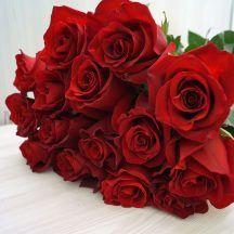 Букет из роз 15 шт, Эквадор (красные)