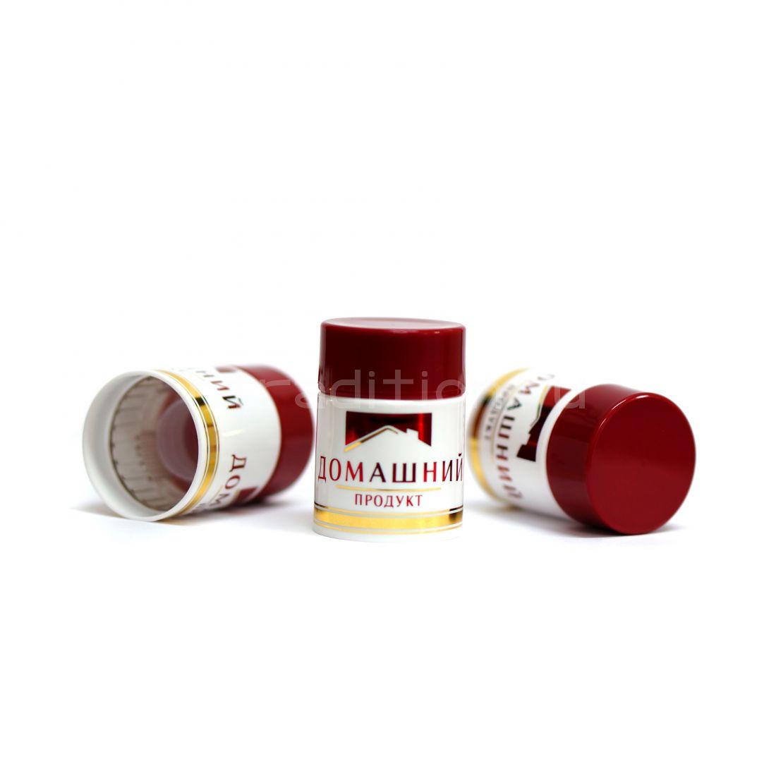 Колпачок с дозатором Домашний продукт бордовый (Гуала 47 мм) / 10 шт