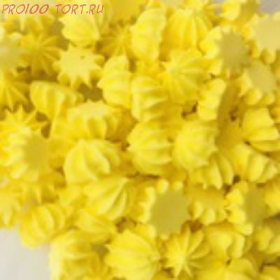 Украшение сахарное Мини-безе (жёлтые) 50гр.