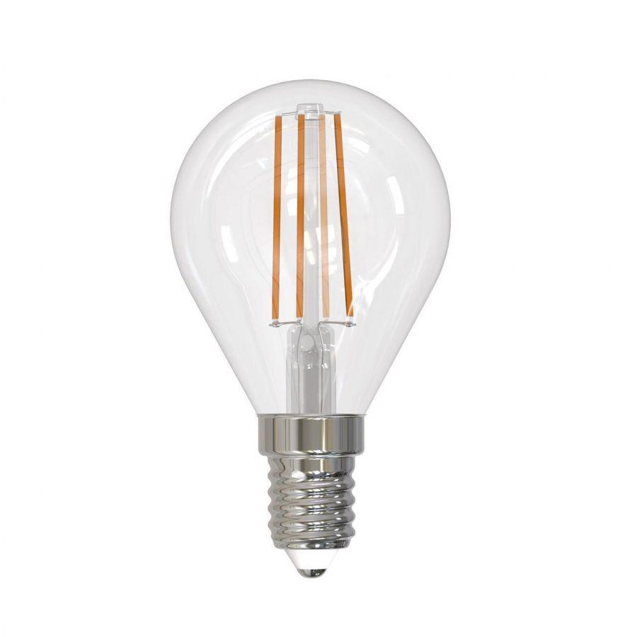 Лампа светодиодная диммируемая (UL-00005191) E14 9W 3000K прозрачная LED-G45-9W/3000K/E14/CL/DIM GLA01TR