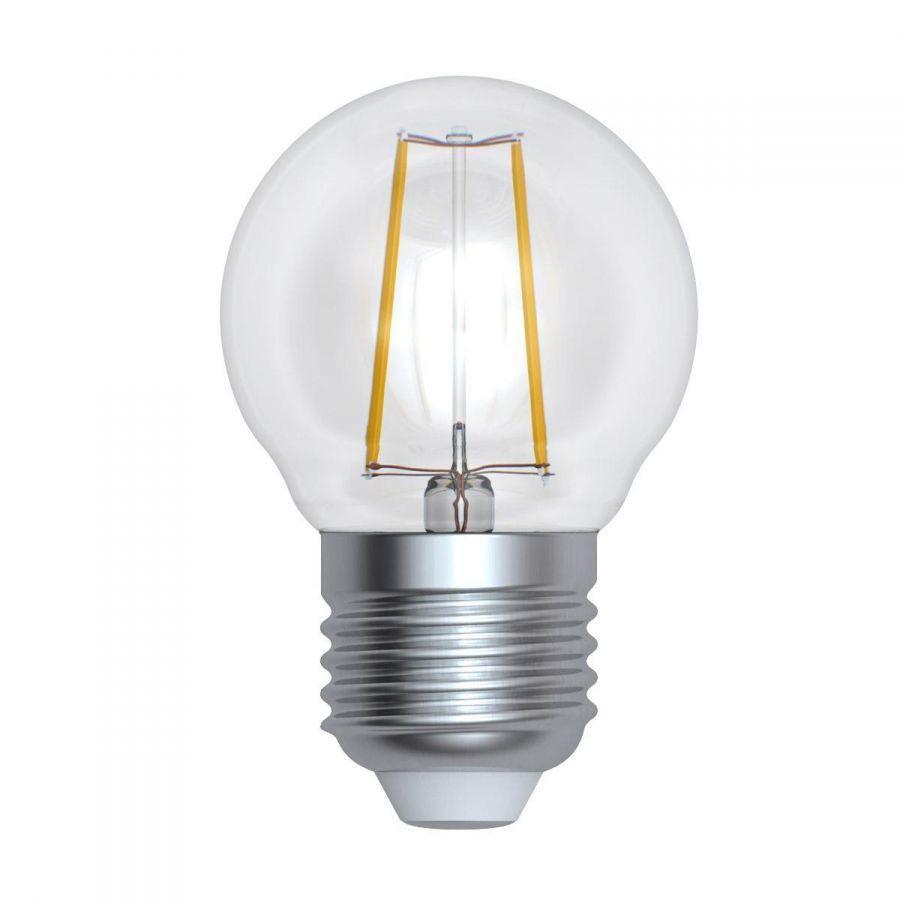 Лампа светодиодная диммируемая (UL-00005193) E27 9W 3000K прозрачная LED-G45-9W/3000K/E27/CL/DIM GLA01TR