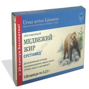 Медвежий жир обогащенный, 120 капс.