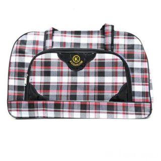 Дорожная сумка Саквояж, 52х19х33 см, Цвет узора: Красный