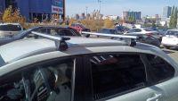 Багажник на интегрированные рейлинги Lada XRay Cross, Евродеталь, крыловидные дуги