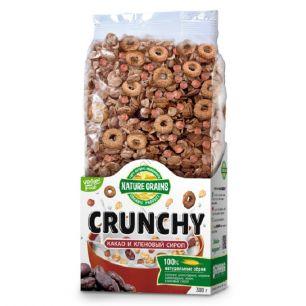Завтраки сухие Crunchy с какао и кленовым сиропом, 350 гр