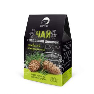 Травяной чай с кедровой шишкой, 80 гр