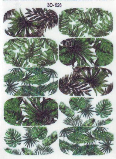 3D Слайдер-дизайн 3D 626 тропические листья