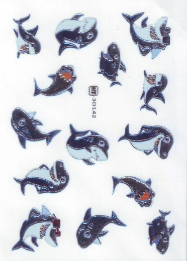 3D Слайдер-дизайн 3D 142 акулы