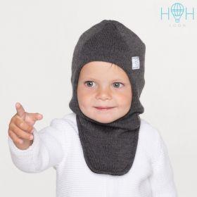 HOH ШЗ20-06221742 Шапка-шлем зимний со светоотражающим шевроном, темно-серый