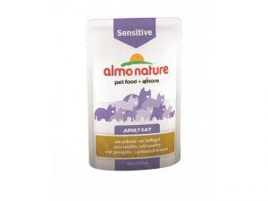 Almo Nature паучи с птицей для кошек для улучшения работы кишечника (Functional - Sensitive with Poultry) 70 гр.