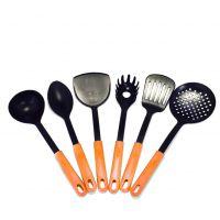 Набор кухонных принадлежностей из нейлона KITCHEN TOOLS, 6 предметов, цвет оранжевый