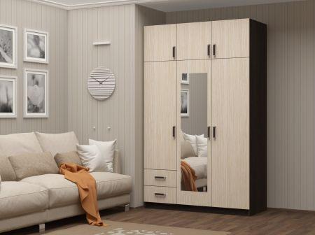 Шкаф 3-створочный с 2-мя ящиками
