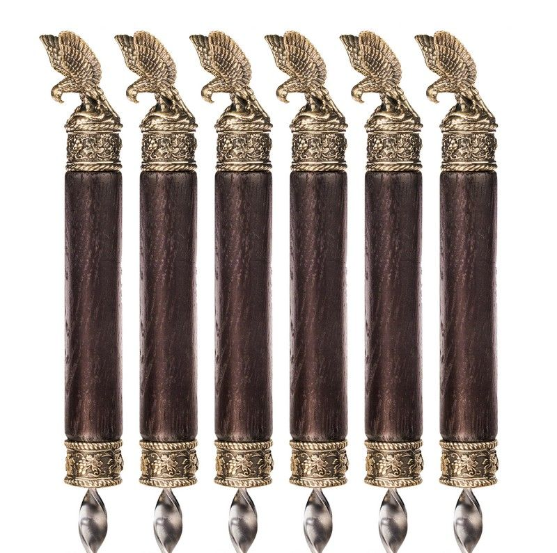 """Коллекционный сувенирный набор шампуров """"Орел маленький"""""""