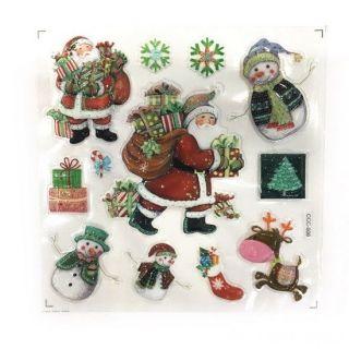 Новогодние наклейки на окна Room Decor, 26х21 см, Дед Мороз