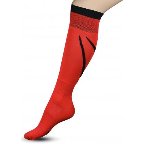 Гетры футбольные с рисунком Sport 3-1 INDIGO красные