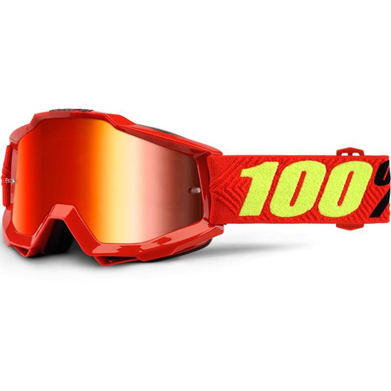 100% Accuri JR Saarinen Mirror Red очки для мотокросса подростковые
