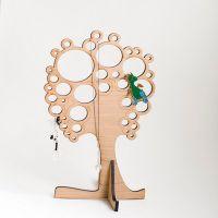 Вешалка для украшений в виде дерева с кругами