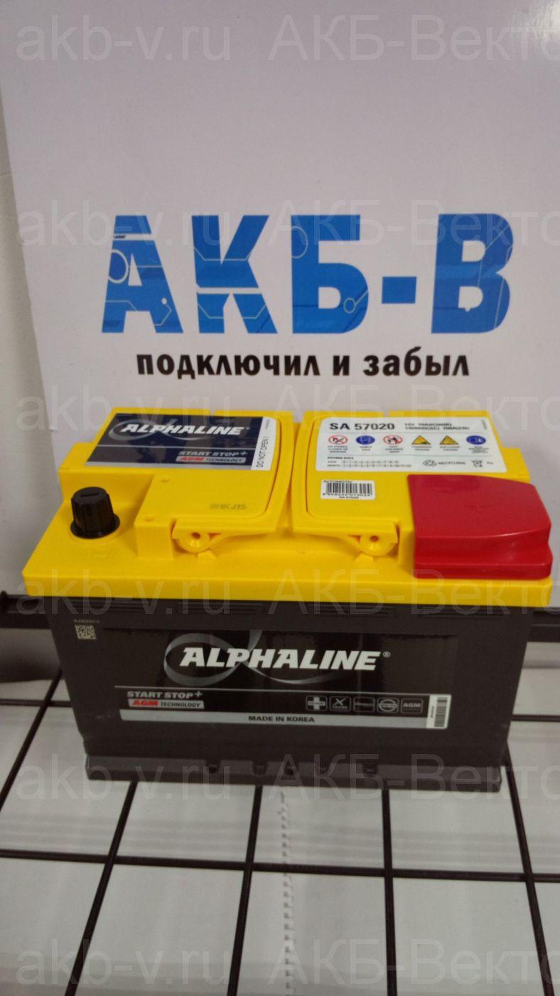 Аккумулятор Alphaline AGM 70Ач 760А(EN) L3 (AX 57020) 2021г
