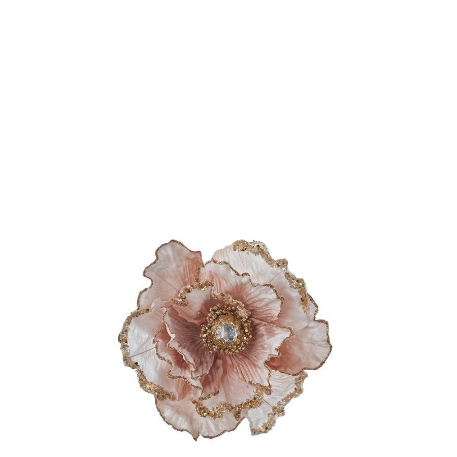 Прищепка цветок 14*18*9 см цвет светло-розовый